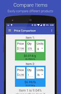 Pricebook (and shopping list) - náhled