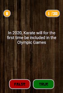 Karate TrueOrFalse - náhled