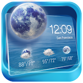 Transparent Weather & Clock