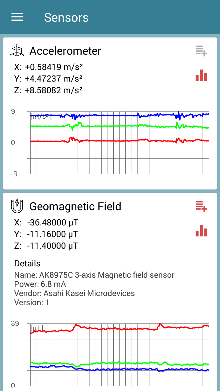 Sensors Toolbox Screenshot 1