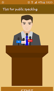Tips for public speaking - náhled