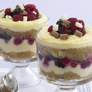 White Chocolate, Irish Cream and Berry Trifle