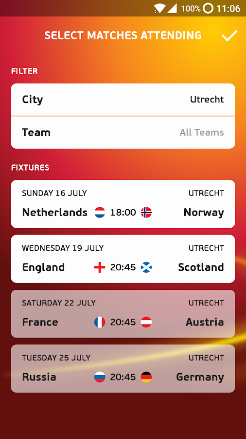 Active Match App- screenshot