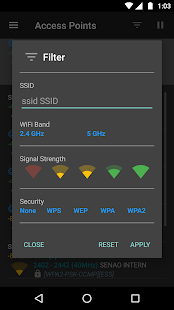 WiFiAnalyzer (open-source) Screenshot