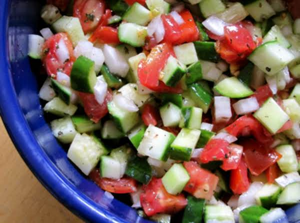 Cucumber, Tomato, Mint Salad Recipe