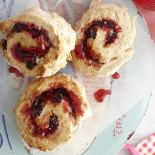 Scone and Raspberry Jam Pinwheels