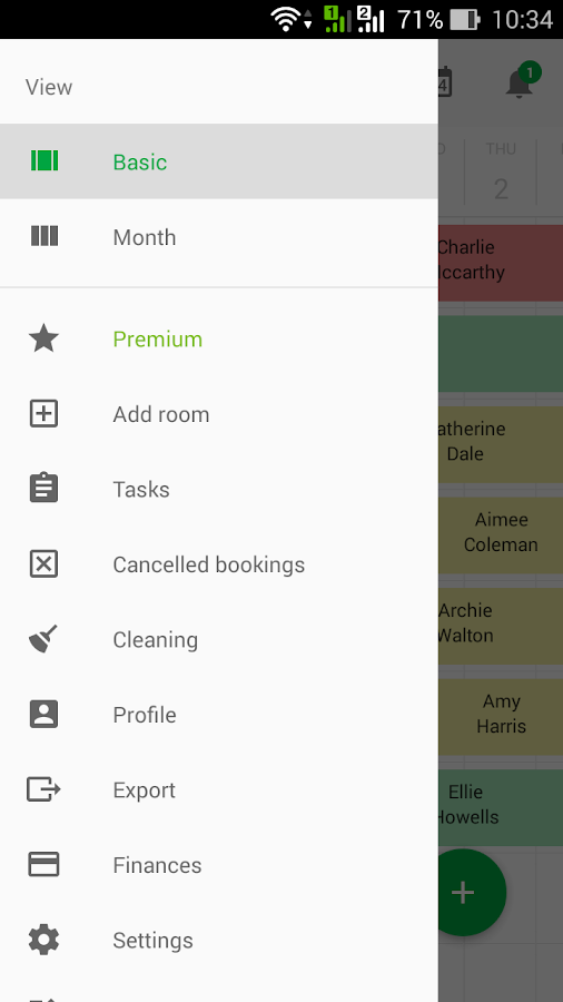 Booking calendar reservation- screenshot