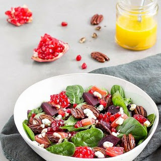 Spinach Salad with Beets and Pomegranate