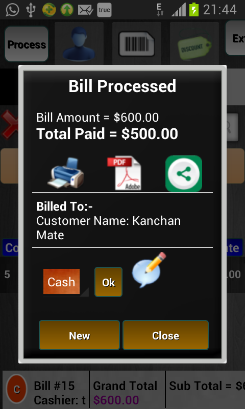 Restaurant Billing System Android Apps On Google Play - Invoice system free online health food store