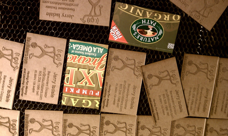 Photo: Business Cards from Cereal Boxes