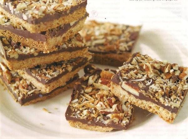 Chocolate Pecan Coconut Cookie Bars Recipe