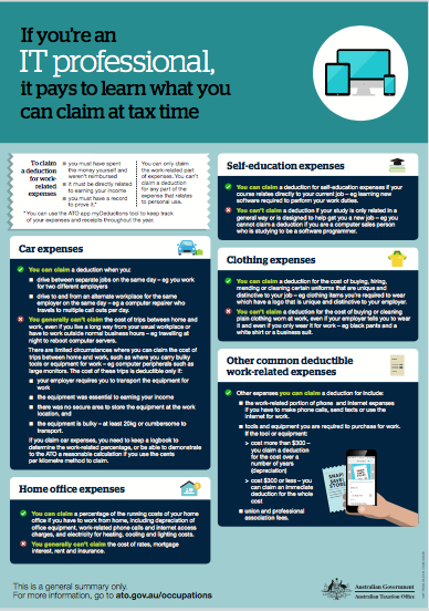 Click Here To Download Your Tax Deduction Checklist For IT Professionals