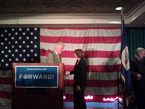 Photo: President Bill Clinton and Senator Amy Klobuchar.