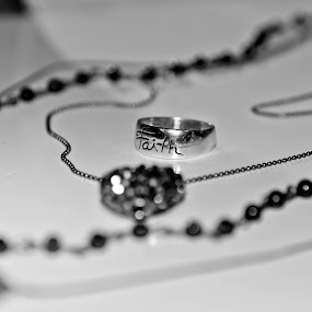 faith over wealth by Rose Johnson - Products & Objects Industrial Objects ( jewerly, heart, black and white, faith, beads )
