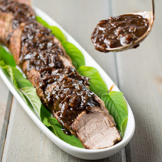 Pork Tenderloin with Balsamic Dijon Sauce