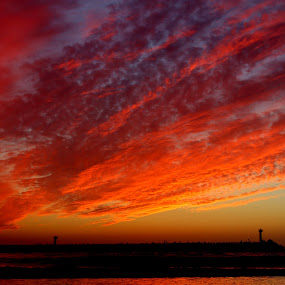 Sky explosion by Name of Rose - Landscapes Cloud Formations ( herzlyia, sky, explosion, izrael, beach )