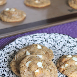 WHITE CHOCOLATE PEANUT BUTTER CUP OATMEAL COOKIES