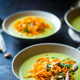 Coconut Curry Soup with Sweet Potato Noodles
