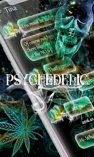 (FREE) GO SMS PSYCHEDELIC THEME - náhled