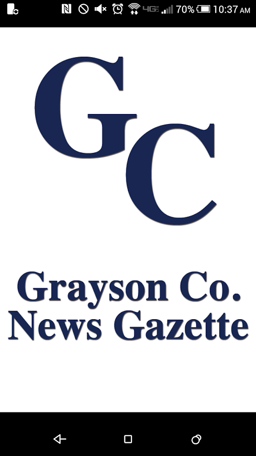 Grayson County News Gazette- screenshot