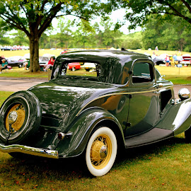 Green by Steve Hayes - Transportation Automobiles ( classic car, green, automobile, auto, car show )