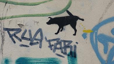 """Photo: Stencil; Unknown Artist; """"Hund"""""""