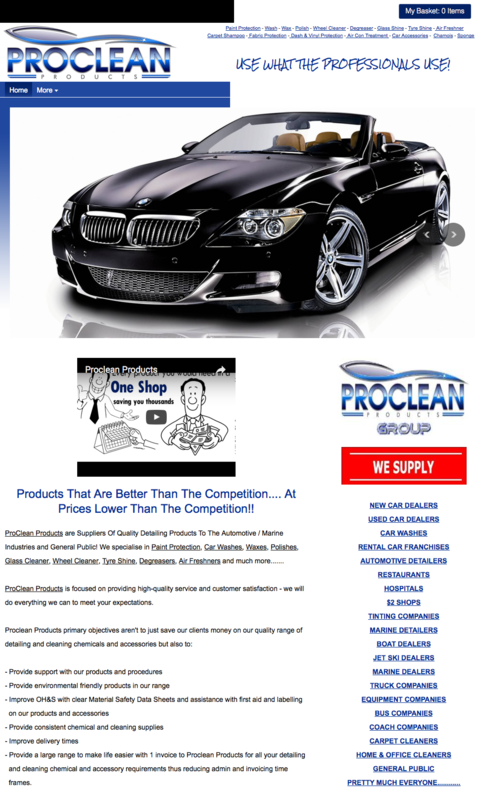 Proclean Products- screenshot