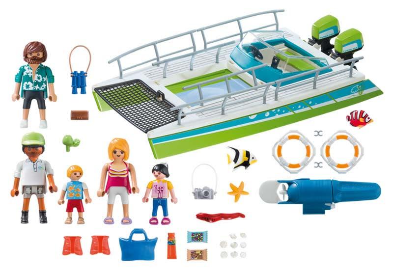 Contenido real de Playmobil® 9233 Barco Vistas Fondo Marino con Motor