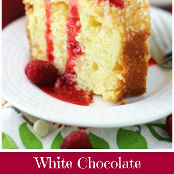 White Chocolate Macadamia Coconut Bundt Cake with Raspberry Syrup ...