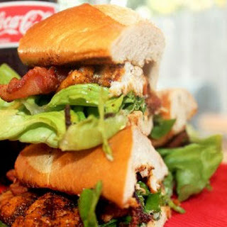 Blackened Fish Po Boy with Bacon