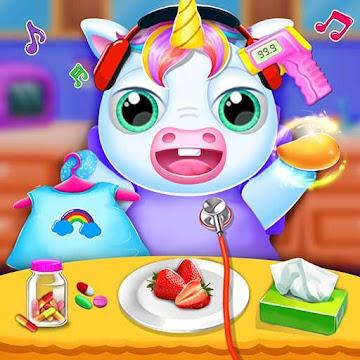 Cute Unicorn Care Babysitter