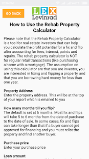 Rehab Property Calculator - náhled