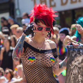 Pride 2013 by Steve Kazemir - People Fashion ( pride, parade, red, sunglasses, hair, tatoo )