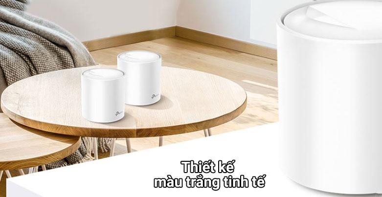 Thiết bị mạng Wifi Mesh 6 TPLink Deco X60 (3-pack)   Thiết kế màu trắng tinh tế