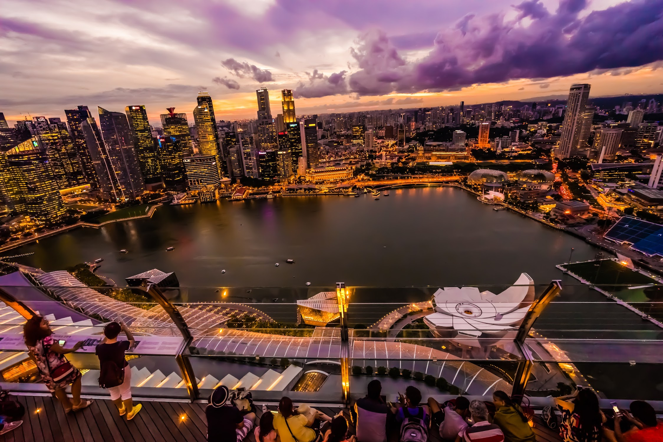 Singapore Marina bay Sands SkyPark Observation Deck night view3