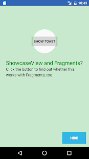 ShowcaseView sample Screenshot
