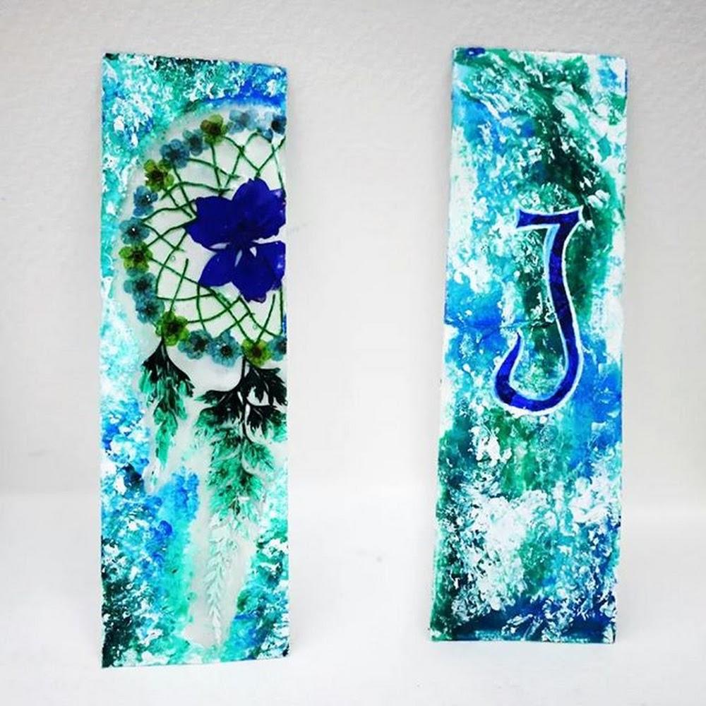 Dreamcatcher Pressed Flower Bookmark