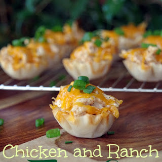 Chicken and Ranch Taco Cups