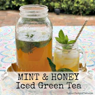 Mint & Honey Iced Green Tea.