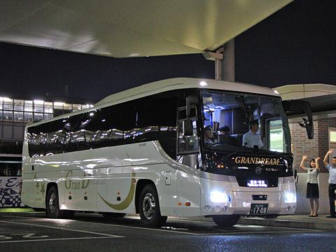 中国JRバス「グランドリーム横浜・東京2号」 1708 横浜・東京へ向けて出発_01