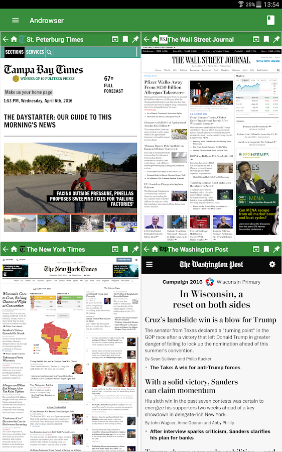 Androwser: Multiview Browser- screenshot