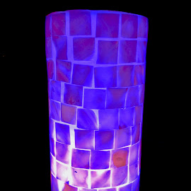 Purple Lamp by Nadeem M Siddiqui - Artistic Objects Other Objects