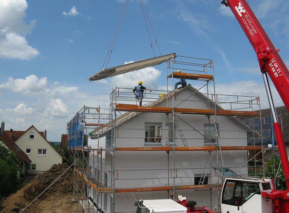 Housebuilding, Edifício Novo, Site, Andaime
