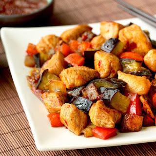 Chicken & Eggplant Teriyaki Stir-Fry.