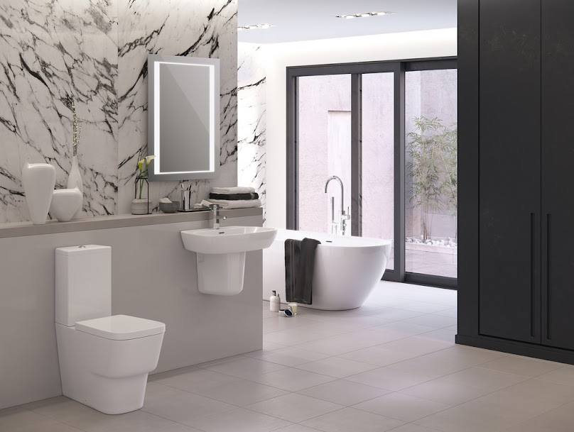 Panele ścienne w nowoczesnej łazience.