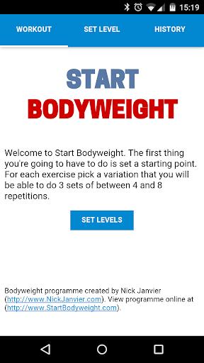 Start Bodyweight
