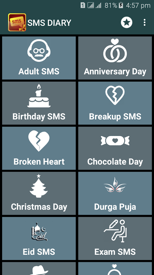 SMS DIARY : Message collection- screenshot