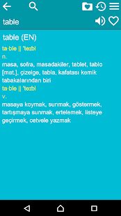 English Turkish Dictionary- screenshot thumbnail