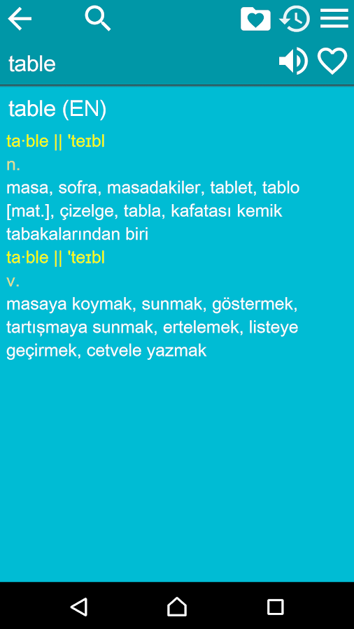 English Turkish Dictionary- screenshot