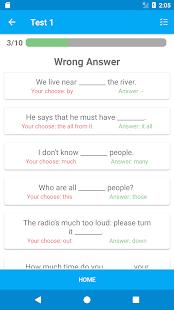 TOEFL Practice Test Screenshot